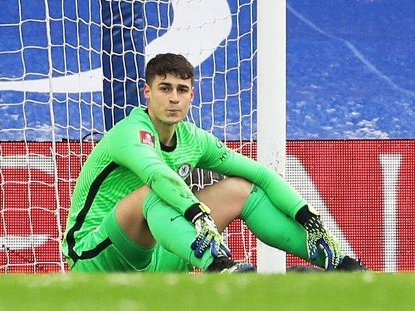 Kepa Arrizabalaga baru main sekali untuk Chelsea musim ini.