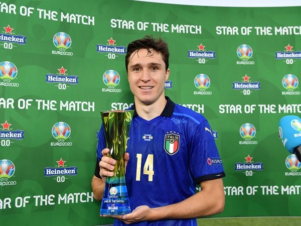 Federico Chiesa kabarnya masih berlatih bersama timnas Italia.