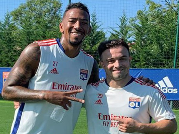 Boateng dan Shaqiri bisa sama-sama turun pada laga Lyon vs. Strasbourg