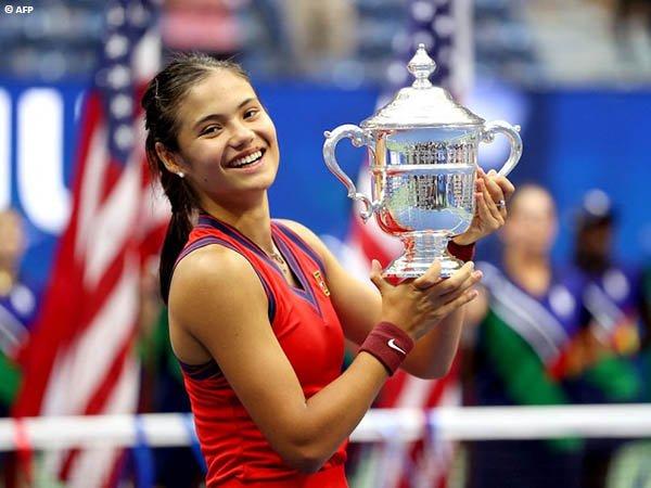 Reaksi Emma Raducanu usai jadi juara Grand Slam di US Open 2021