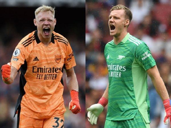 Bernd Leno dan Aaron Ramsdale memperebutkan posisi kiper Arsenal