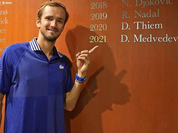 Reaksi Daniil Medvedev usai menjadi juara US Open 2021