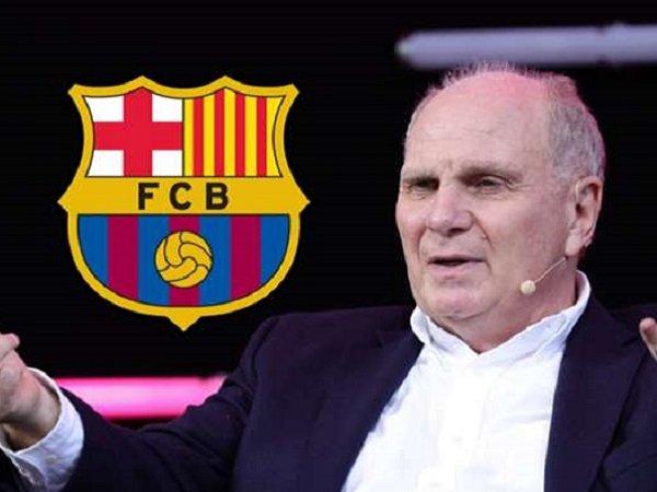 Uli Hoeness komentari kebangkrutan yang dialami Barcelona.