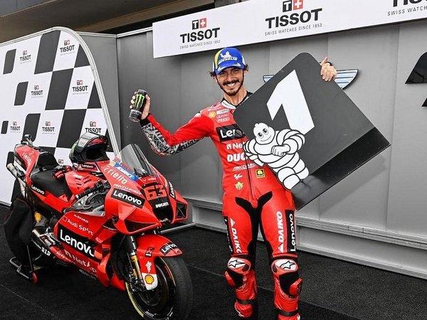 Francesco Bagnaia persembahkan kemenangan perdananya untuk akademi VR46.