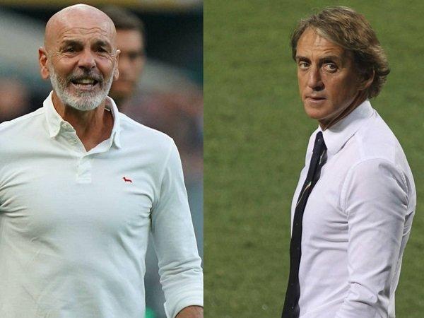 Stefano Pioli dan Roberto Mancini
