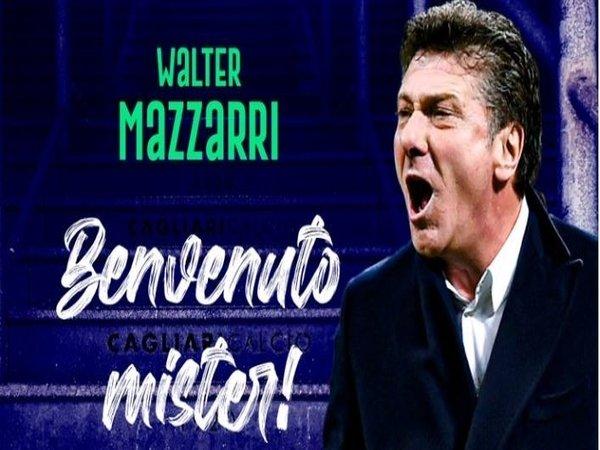 Banner resmi penunjukan Walter Mazzarri sebagai pelatih anyar Cagliari / via Cagliari Calcio