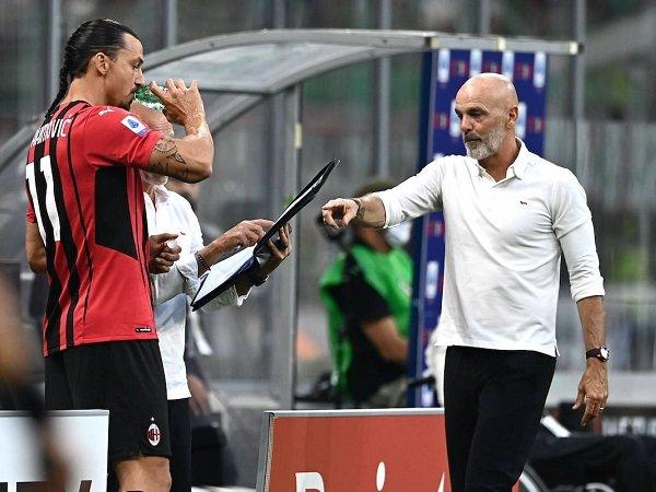 Zlatan Ibrahimovic dan Stefano Pioli