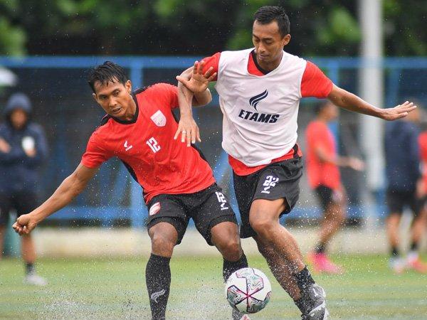 Latihan Borneo FC jelang menghadapi pekan ke-3