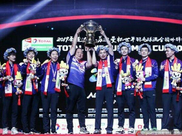 Berikut Daftar Skuad China di Piala Sudirman 2021