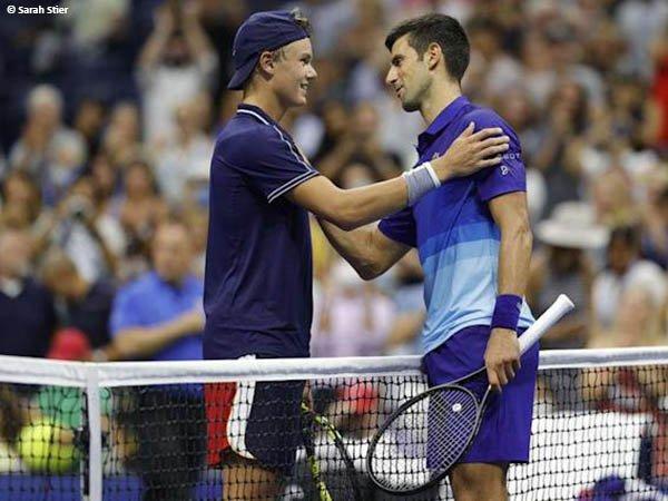 Holger Vitus Nodskov Rune terkenang dengan laga lawan Novak Djokovic di US Open