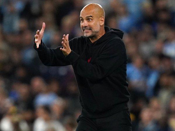 Manajer Manchester City. Pep Guardiola.