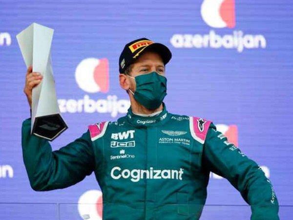 Pebalap Aston Martin, Sebastian Vettel. (Images: Getty)