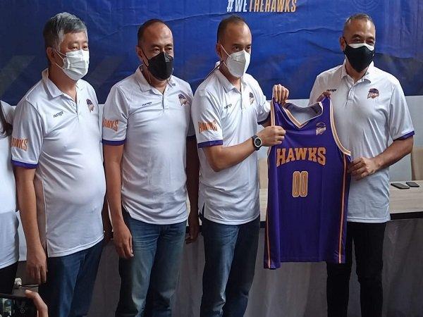 Rama Datau saat menghadiri preskon Tangerang Hawks. (Images: IBL)