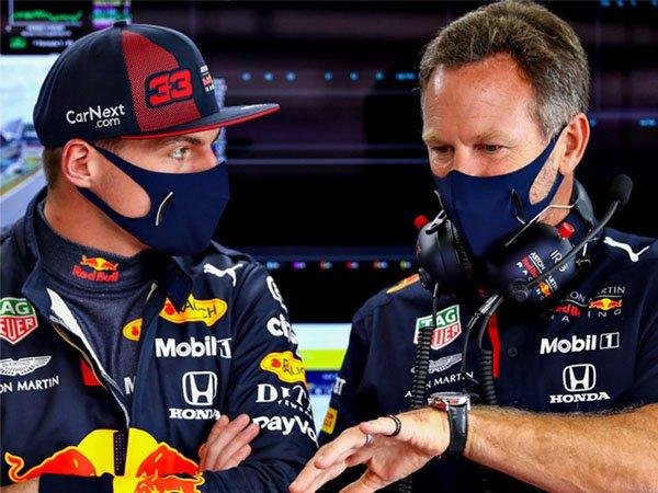 Max Verstappen dan Christian Horner