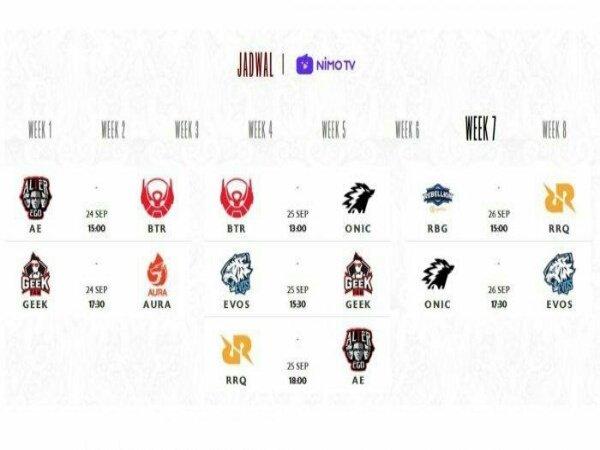 Jadwal MPL ID Season 8 Week 7: Bertabur Big Match!