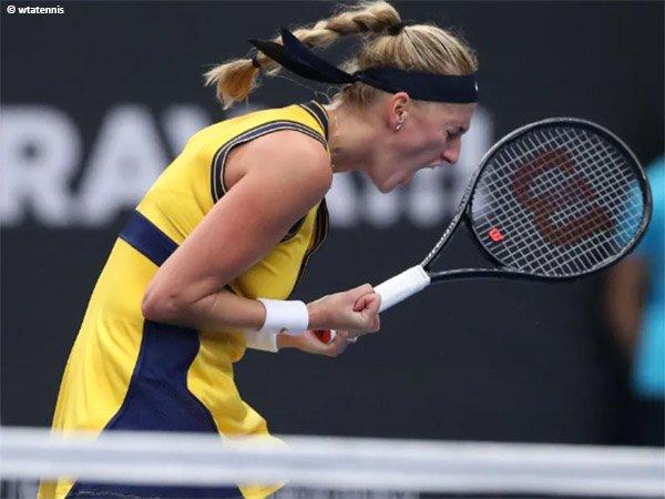 Petra Kvitova jatuh bangun demi maju ke perempatfinal Ostrava Open 2021