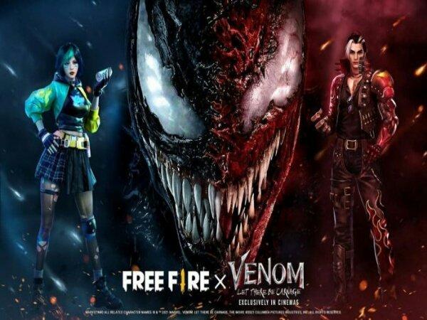 Resmi, Free Fire Kolaborasi dengan Film Venom: Let There Be Carnage