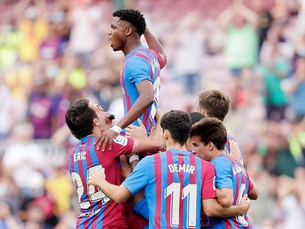 Ansu Fati sukses cetak gol pada laga perdananya setelah pulih cedera.