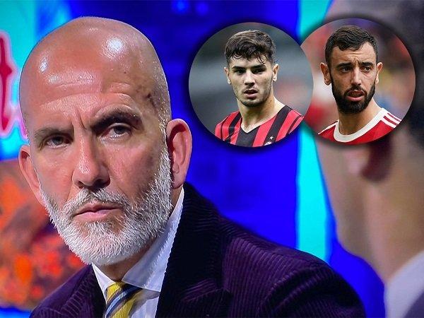 Paolo Di Canio Bandingkan Brahim Diaz Dengan Bruno Fernandes