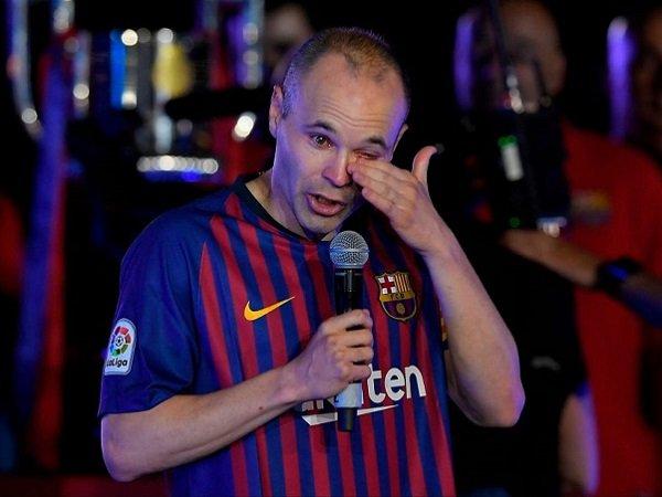Andres Iniesta saat masih bermain bersama Barcelona.