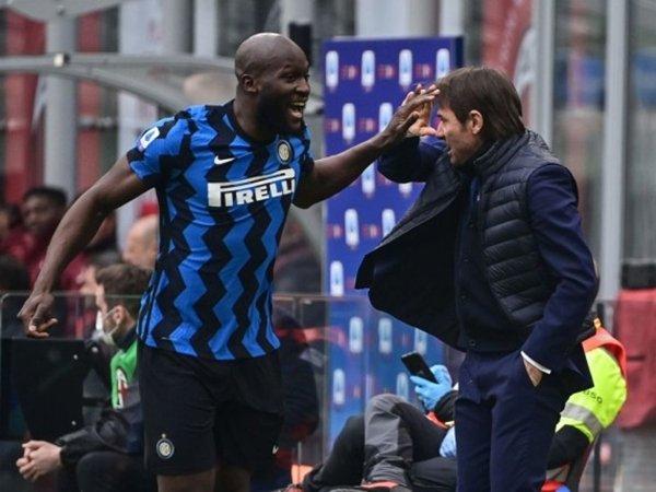 Romelu Lukaku - Antonio Conte (Sumber: Getty)
