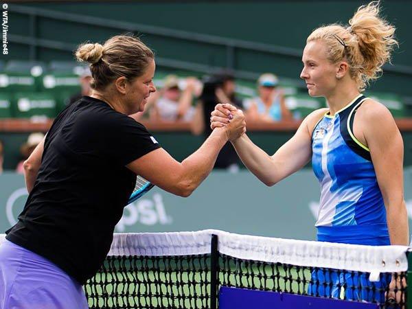 Katerina Siniakova pukul mundur Kim Clijters dari Indian Wells musim 2021