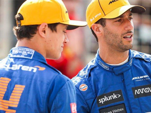 Lando Norris dan Daniel Ricciardo
