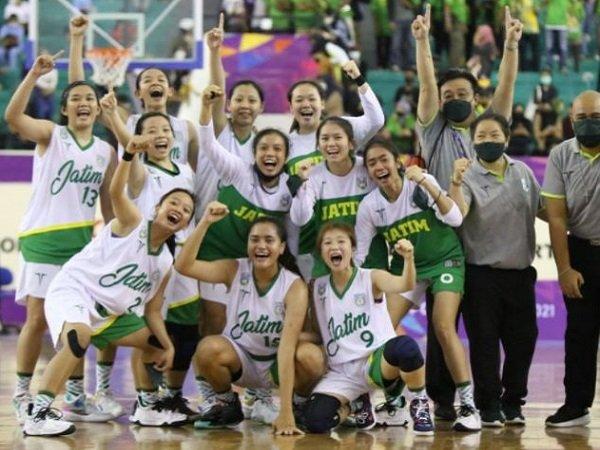 Tim basket putri Jatim raih medali emas PON Papua 2021.