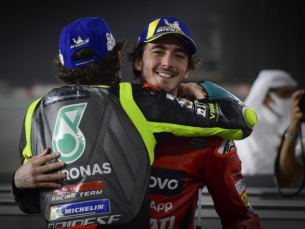 Francesco Bagnaia masih berat melihat Valentino Rossi bakal pensiun.