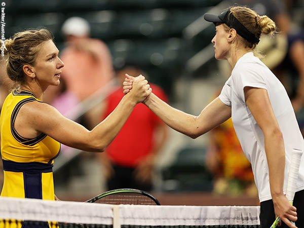 Aliaksandra Sasnovich bungkam Simona Halep di babak ketiga BNP Paribas Open 2021