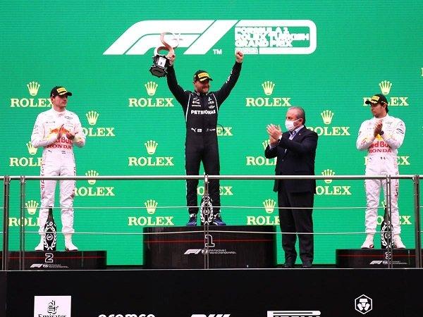 Valtteri Bottas senang bukan main usai menang di GP Turki.