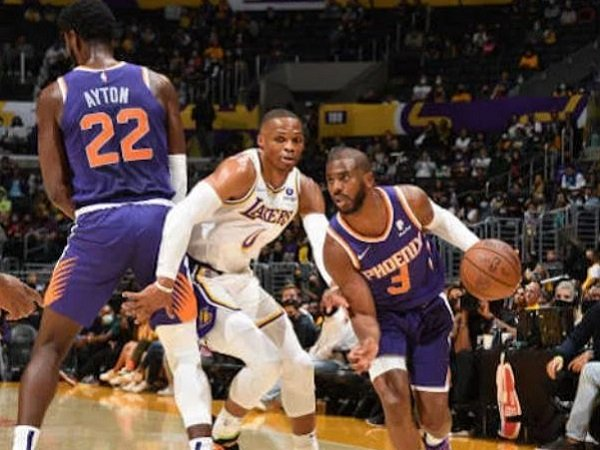 Point guard anyar Los Angeles Lakers, Russell Westbrook saat melawan Phoenix Suns. (Images: Getty)