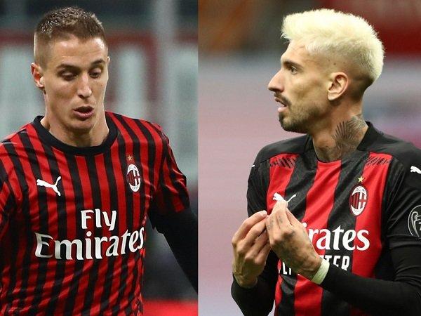 Duo Milan Andrea Conti dan Samu Castillejo
