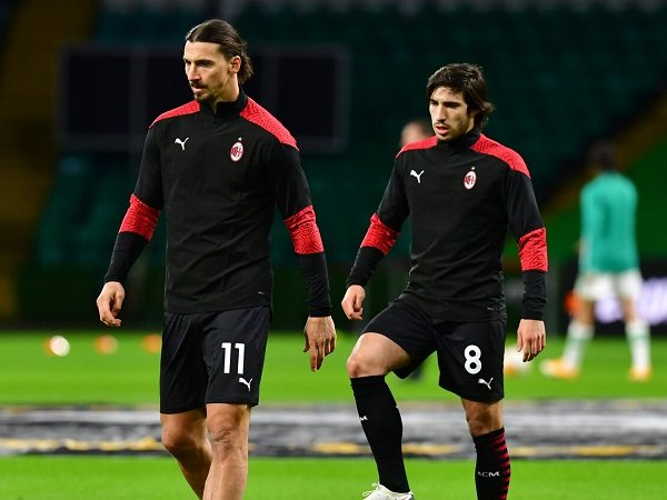 Zlatan Ibrahimovic dan Sandro Tonali
