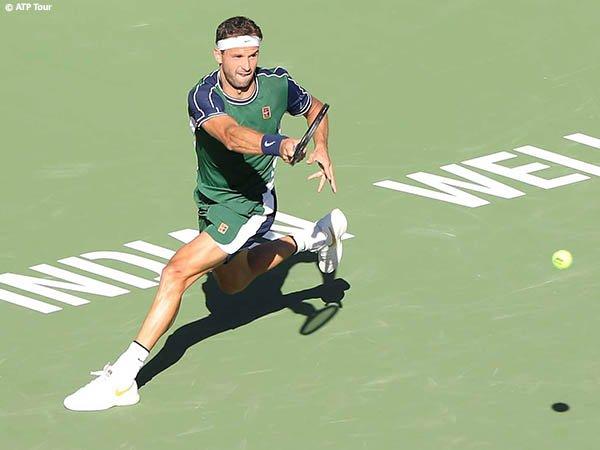 Grigor Dimitrov jinakkan Daniil Medvedev demi perempatfinal di Indian Wells musim 2021