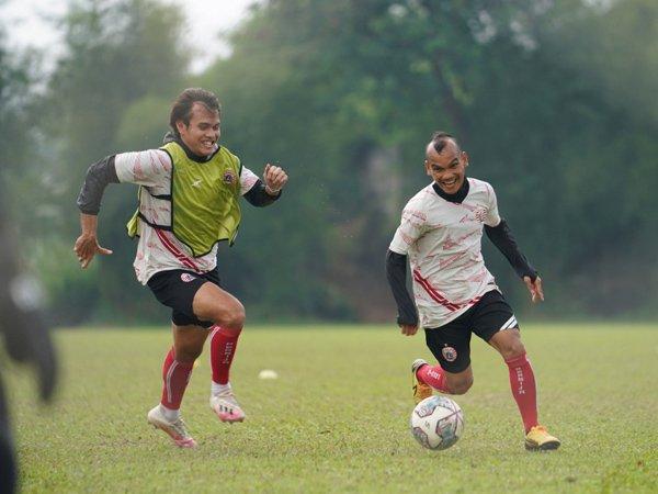 Latihan skuat Persija Jakarta jelang seri kedua