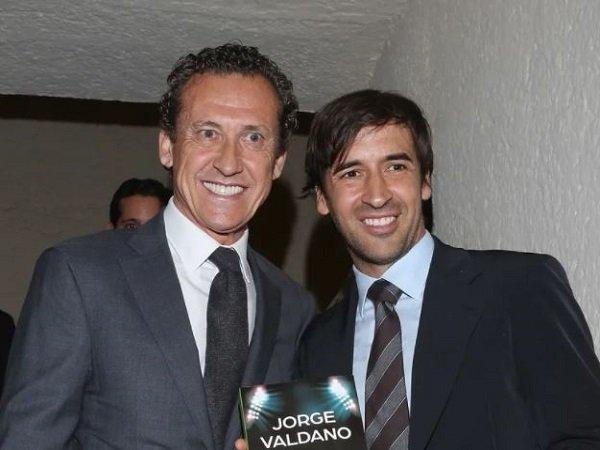 Jorge Valdano bersama Raul Gonzalez. (Images: Getty)