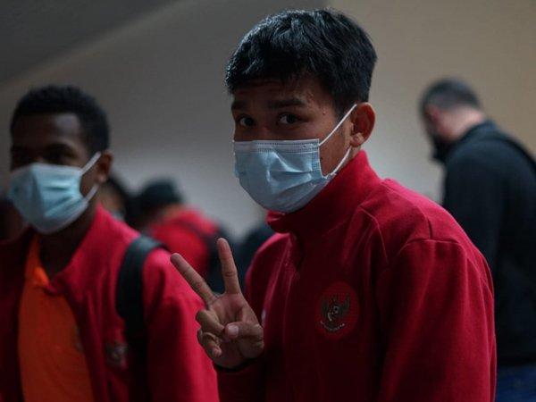 Skuat timnas Indonesia U-23 tiba di Tajikistan