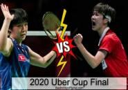 Piala Uber 2020: Line-up Final Jepang Versus China