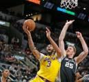 Tanpa LeBron, Los Angeles Lakers Tetap Menang di Markas Spurs