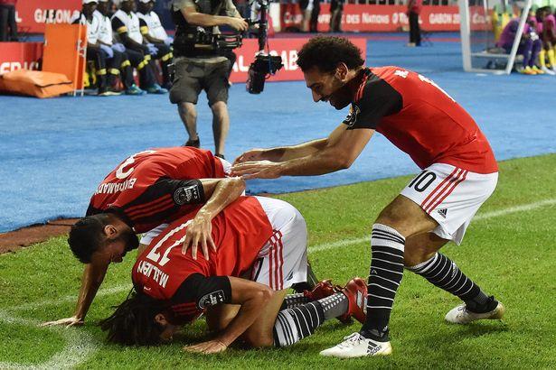 Egypts midfielder Mohamed Elneny C ce